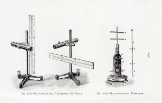 PRINT ~ GALVANOMETER TELESCOPE & SCALE THOMPSON REVERSE AYRTON MATHER
