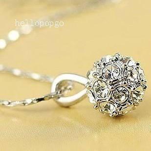 swarovski crystal ball necklace in Necklaces & Pendants