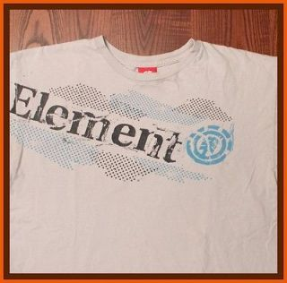 Element Skateboard Clothing Bam Margera Bold Emblem Gray Medium