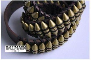 BALMAIN Bullet Vintage Buckle Leather Belt Kanye West S/S11 size 95