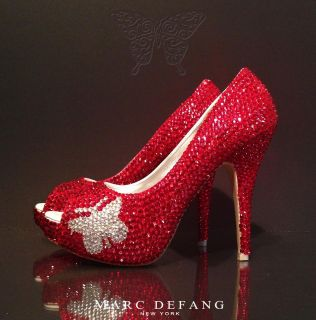 Signature Butterfly Red Swarovski Crystal Heels by MARC DEFANG
