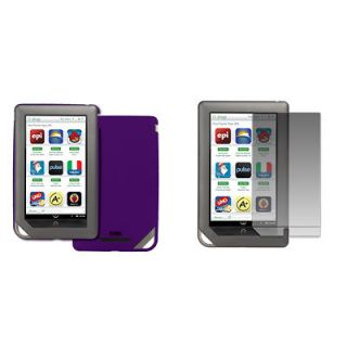 for Barnes and Noble Nook Color Purple Hard Stealth Case Cover+Screen