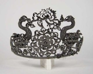 Black Swan Ballerina Jeweled Tiara Crown