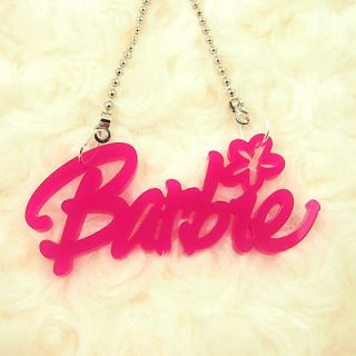 ACRYLIC PENDANT KITSCH NEW BARBIE NAME NECKLACE JEWELRY NICKI MINAJ