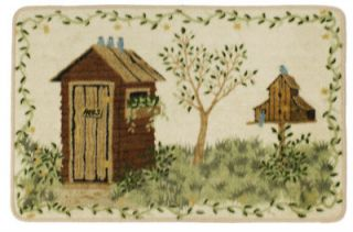 Outhouses By Linda Spivey Rustic Bathroom Accessory Bath Mat Rug