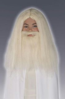 LORD OF THE RINGS GANDALF WIG AND BEARD SET COSTUME RU50943