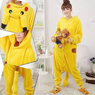 Hot! Pokemon Pikachu Japan Anime Jumpsuit Pajamas Clothing Costume