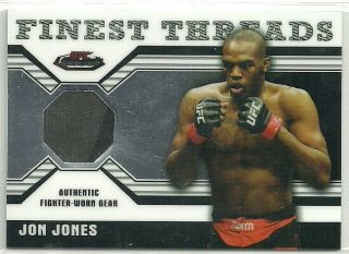 2011 Topps UFC Finest Threads 2 Color Shirt Relic Card Jon Jones