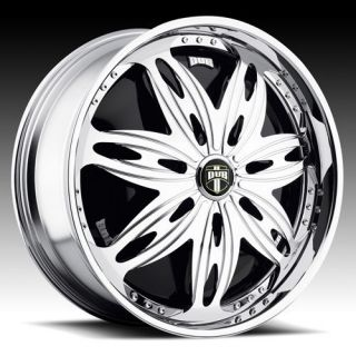 24 DUB SPIN Stashola Wheel SET 24x9.0 Chrome Rims for RWD 5 & 6 Lug