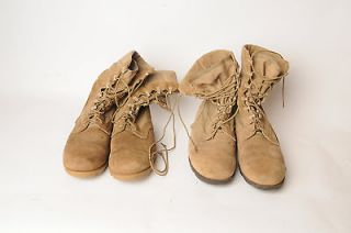 Two Pairs Hot Weather Combat Boots   Tan   USED