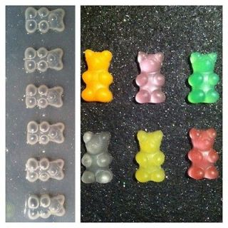 Gummy Bears Flexible Resin Mold For Handmade Jewelry or Hair Bows