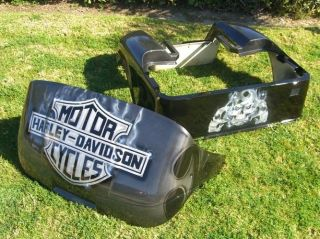 EZ GO 1994 Up CUSTOM Harley Davidson Front Rear Body COWL Golf Cart