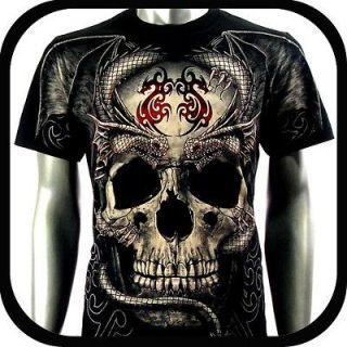 Rock Eagle T Shirt Limited Edition Biker Vtg E44 Sz XL Tattoo Skull