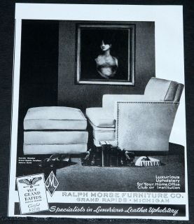 1948 OLD MAGAZINE PRINT AD, RALPH MORSE FURNITURE, GRAND RAPIDS