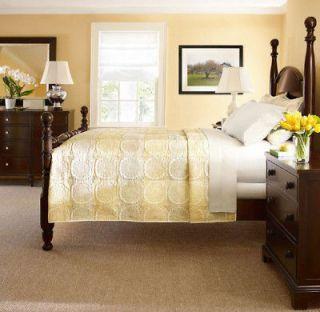 MARTHA STEWART Brownstone Damask Taupe Grey 22 Piece Queen Comforter