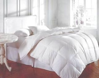 Bedding Queen White Feather Down Bed Comforter 54 Oz