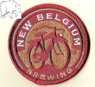 New Belgium Brewing Round Beer Patch Fat Tire Bicycle Bike Fort