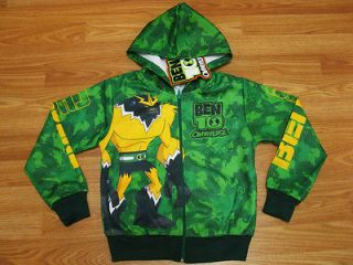 Ben 10 Omniverse Hooded Jacket #134 06 Green Size S age 3 4
