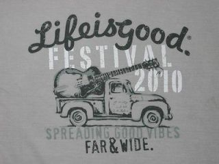 Is Good FESTIVAL 2010 Jason Mraz Ben Harper T Shirt Mens Gray NWT