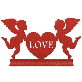 Bethany Lowe Valentine   Cupids Love Table Sign   LG0638