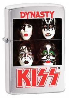Zippo Kiss Dynasty Brushed Chrome Lighter, Low Ship, 28019