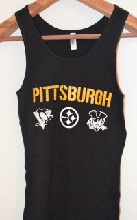 NEW S XXL PITTSBURGH STEELERS, PENGUINS, PIRATES, LADIES TANK TOP T