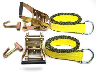 WHEEL LIFT STRAPS w RATCHETS CHEVRON WRECKER STRAPS