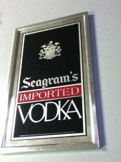 H5 SEAGRAMS VODKA BEER SIGN MIRROR BAR SPIRITS OLD PUB TAVERN REC