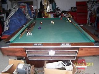 ft Brunswick Slate Pool Table w/ Balls