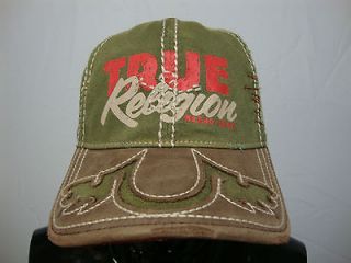 Mens True Religion Baseball Hat 100% Authentic Jean Cap (One Size Fits
