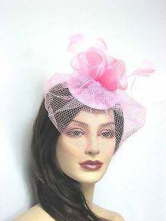 Fascinator Hats Wedding Party, Birdcage, hair clip Bridal