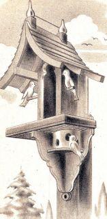 Woodworking Craft Plan Pattern Bird House Birdhouse