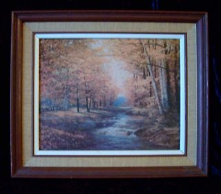 Autumn Leaves Signed and dated by Robert Wood 1959 Litho In USA