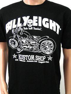BILLY EIGHT SIZE M VINTAGE MOTORCYCLE TEE WEST COAST CHOPPER CUSTOM