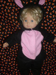 CLOTHES BITTY BABY / TWINS BLACK CAT HALLOWEEN COSTUME /SLEEPER