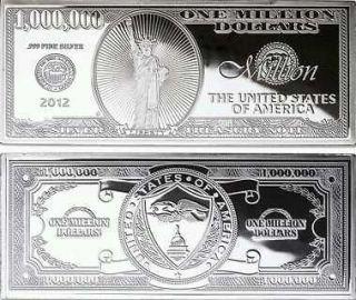 Million Dollar Bill in Coins & Paper Money