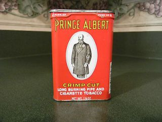 Vintage Prince Albert 1.5oz Vertical Pocket Tobacco Tin Can ~ Empty