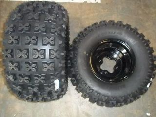 SUZUKI LTR450 REAR BLACK WHEELS AND TIRES SEDONA BAZOOKA 20X11 8
