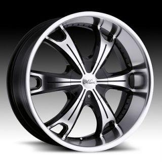 17 inch Milanni Stellar Black Wheels Rims 5x4.5 5x114.3 +25