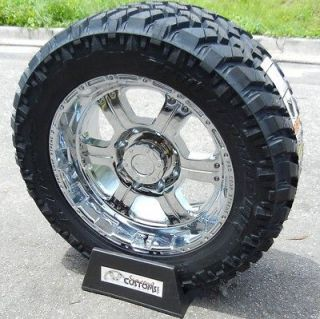 20 CHROME PROCOMP WHEELS RIM 33 NITTO TRAIL GRAPPLER TIRES CHEVY GMC