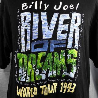 Billy Joel River Of Dreams World Tour 1993 T Shirt XL Black The