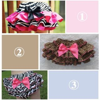 1pc Baby Girl Kid Toddler Ruffle Pants Nappy Cover Bloomers Skirt Free