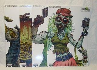 8ct Birchwood Casey Darkotic Splatter Zombie Shooting Targets Assorted