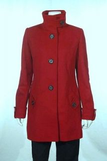 NEW Kristen Blake RED Womens Wool Blend Trench Coat Jacket Size XL