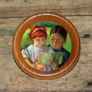 TIME Mother daughter Mary Cassatt Art Tie Tack or Ring or Brooch pin