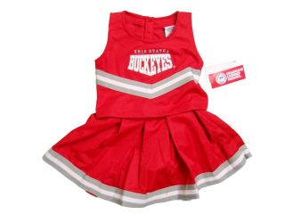 OHIO STATE BUCKEYES 2 PIECE TODDLER CHEERLEADER OUTFIT NWT