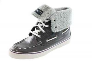 Abacos Gray Faux Fur High Tops Fashion Sneakers Boat Shoes 8.5 BHFO