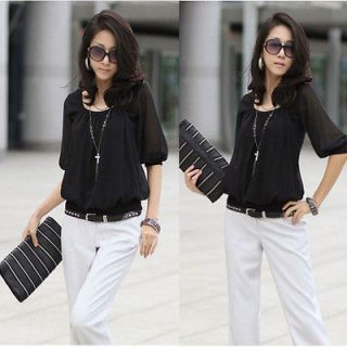 black chiffon blouse in Tops & Blouses