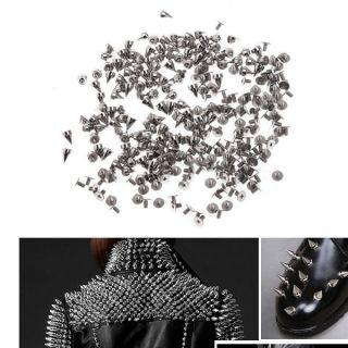 Silver Metal Bullet Studs Rivets Spikes Punk Bag Belt Leathercraft