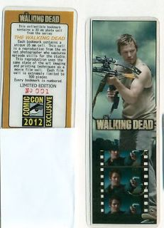 The Walking Dead Daryl SDCC Comic Con Exclusive Film Cell Bookmark